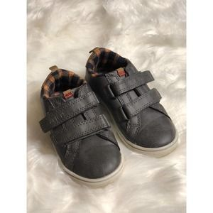 Carter's • Brown Faux Leather Velcro Sneakers